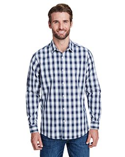 Mens Mulligan Check Long-Sleeve Cotton Shirt-Artisan Collection by Reprime