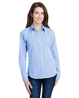 Ladies Microcheck Gingham Long-Sleeve Cotton Shirt-Artisan Collection by Reprime