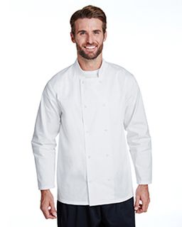 Unisex Studded Front Long-Sleeve Chefs Coat-