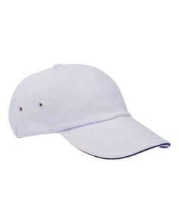 6-Panel Low-Profile Ultra Heavyweight Brushed Twill Sandwich Cap