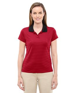 Ladies Climalite Classic stripe Short-Sleeve Polo