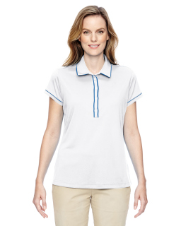 Ladies Piped Polo-