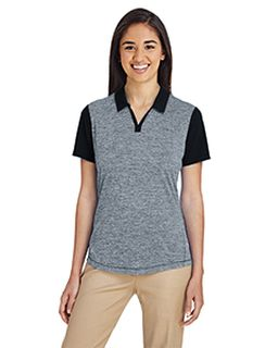 Ladies Heather Block Polo-