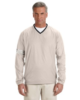 Mens Climalite Colorblock V-Neck Wind Shirt-