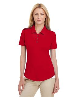 Ladies 3-Stripes Shoulder Polo-adidas Golf