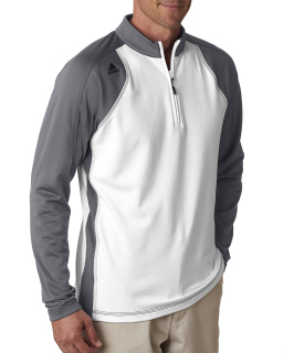 Mens Climawarm™+ 3-Stripes Colorblock Quarter-Zip Training Top-adidas Golf