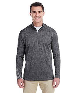 Mens 3-Stripes Heather Quarter-Zip-adidas Golf