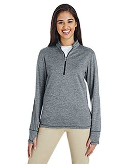 Ladies 3-Stripes Heather Quarter-Zip