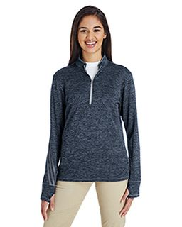 Ladies 3-Stripes Heather Quarter-Zip-adidas Golf