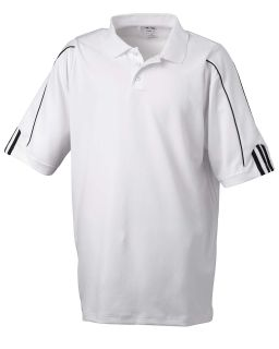 Mens Climalite® 3-Stripes Cuff Polo
