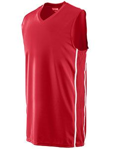 Adult Wicking Polyester Sleeveless Jersey With Mesh Inserts-