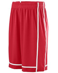 Youth Wicking Polyester Shorts With Mesh Inserts-