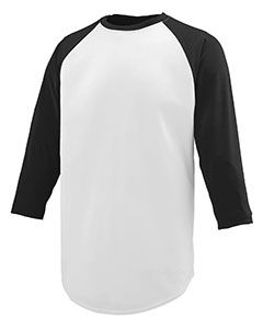 Youth Wicking Polyester 3/4 Raglan Sleeve T-Shirt-Augusta Sportswear