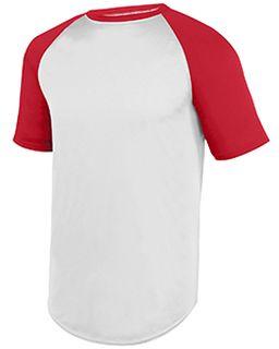 Youth Wicking Ss Baseball Jersey-Augusta Sportswear