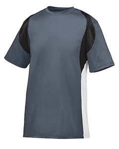 Adult Wicking Poly/Span Short-Sleeve Jersey With Contrast Inserts-