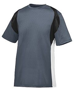 Youth Wicking Poly/Span Short-Sleeve Jersey With Contrast Inserts-