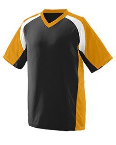 Adult Wicking Polyester V-Neck Short-Sleeve Jersey With Inserts-