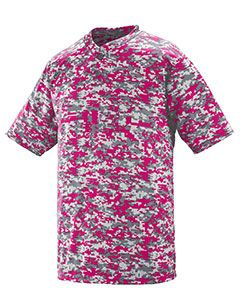Adult Polyester Digi Print Two-Button Short-Sleeve Jersey-