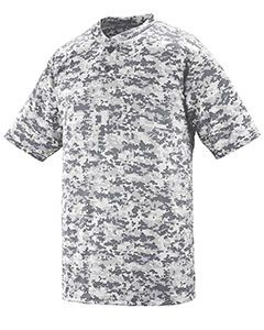 Youth Polyester Digi Print Two-Button Short-Sleeve Jersey-