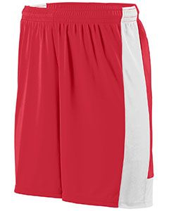 Adult Wicking Polyester Short With Contrast Inserts-