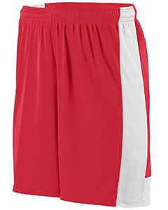 Youth Wicking Polyester Short With Contrast Inserts-