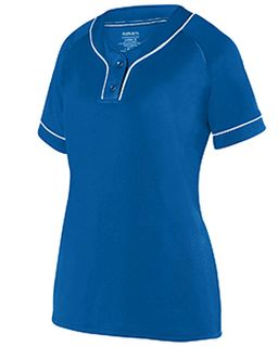 Ladies Overpower 2-Button Jersey-Augusta Sportswear