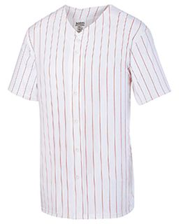 Unisex Pin Stripe Full Button Baseball Jersey-