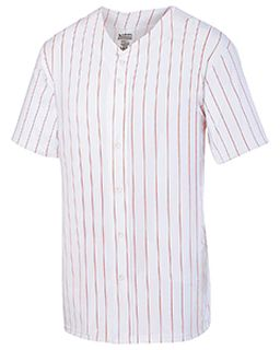 Youth Pin Strp Full Button Baseball Jersey-