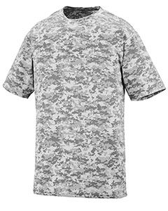Youth Digi Camo Wicking Short-Sleeve T-Shirt-Augusta Sportswear