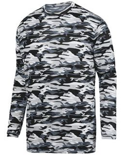 Adult Mod Camo Wicking Long-Sleeve T-Shirt-Augusta Sportswear