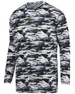 Youth Mod Camo Long-Sleeve Wickng Tee