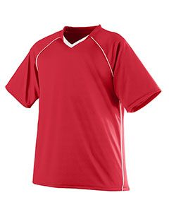 Adult Wicking Polyester V-Neck Jersey With Contrast Piping-