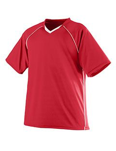 Youth Wicking Polyester V-Neck Jersey With Contrast Piping-Augusta Sportswear