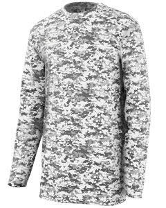 Adult Digi Camo Wicking Long-Sleeve T-Shirt-