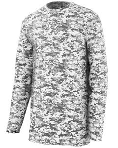 Youth Digi Camo Wicking Long-Sleeve T-Shirt-