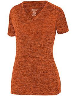 Ladies Intensify Black heather Short-Sleeve Training T-Shirt-