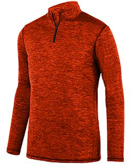 Adult Intensify Black Heather Quarter-Zip Pullover-Augusta Sportswear
