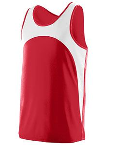 Adult Wicking Polyester Sleeveless Jersey With Contrast Inserts-Augusta Sportswear