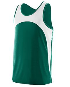 Youth Wicking Polyester Sleeveless Jersey With Contrast Inserts-