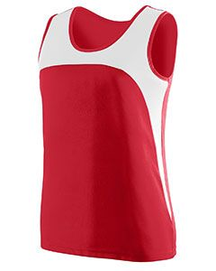 Ladies Wicking Polyester Sleeveless Jersey With Contrast Inserts-