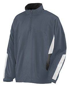 Adult Water Resistant Polyester Diamond Tech Half Zip Pullover-Augusta Sportswear