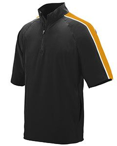 Adult Water Resistant Poly/Span Short-Sleeve Half Zip Pullover-