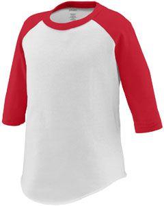 Toddler 3/4-Sleeve Baseball Jersey-Augusta Sportswear