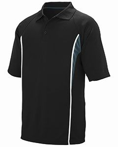 Adult Wicking Polyester Mesh Sport Shirt With Contrast Inserts-