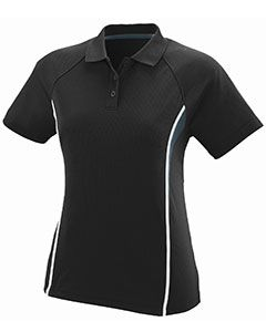 Ladies Wicking Polyester Mesh Sport Shirt With Contrast Inserts-