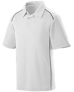Adult Wicking Polyester Sport Shirt With Contrast Piping-