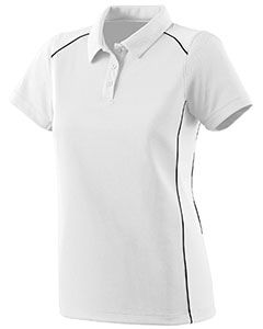 Ladies Wicking Polyester Sport Shirt With Contrast Piping-