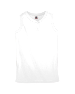 Ladies Sleeveless Two-Button Softball Jersey-