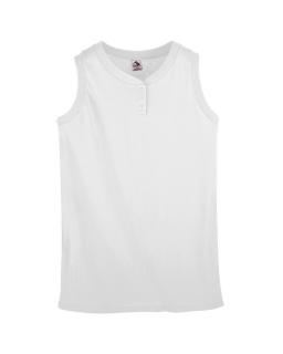 Girls Sleeveless Two-Button Softball Jersey-Augusta Sportswear