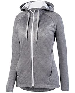 Ladies Zoe Tonal Heather Full Zip Hoodie-